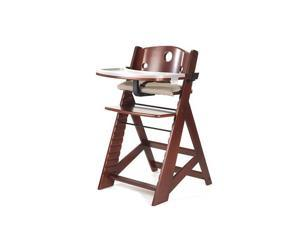 Keekaroo Height Right High Chair with Tray - Mahogany