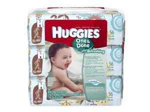 Huggies One & Done Baby Wipes, Scented, Soft Pack, 168ct