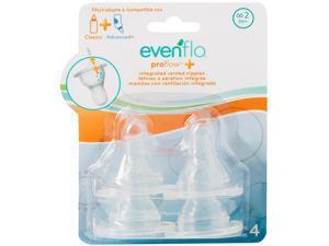 Evenflo Feeding Proflow Vented Medium Flow Nipples - 4 Pack