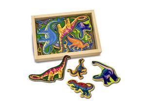 Melissa & Doug Deluxe Wooden Magnets-In-A-Box: Dinosaurs