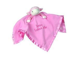 Precious Moments 'Jesus Loves Me' Pink Lamb Blanket