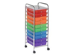 10 Drawer Colorful Mobile Organizer