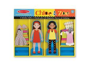 Melissa & Doug Zoe & Chloe Deluxe Magnetic Dress-up