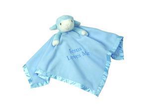Precious Moments 'Jesus Loves Me' Blue Lamb Blanket