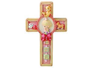 Jesus Loves Me Girl Praying Wall Cross