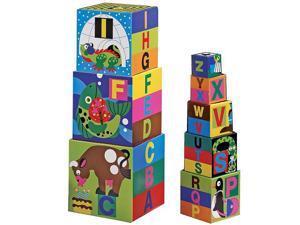 Melissa & Doug Deluxe Alphabet Nesting and Stacking Blocks