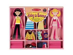Melissa & Doug Abby and Emma Magnetic Wooden Dress Up Set
