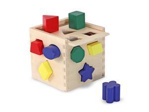 Melissa & Doug 12-piece Wooden Shape-Sorting Cube