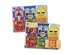 Melissa and Doug Latches & Skills Board - Houses