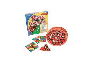 "Pizza Fraction Fun Game 16Pcs 10-3/4"" Diam Multi"