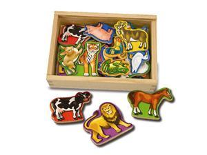 Melissa & Doug Deluxe Wooden Magnets-In-A-Box: Animals