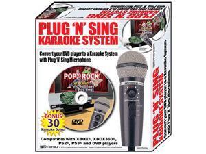 Karaoke USA Plug N Sing Karaoke Microphone