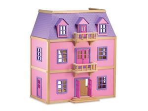 Melissa & Doug Solid Wood Multi Level Dollhouse