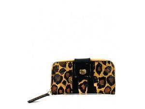 Hello Kitty Wallet - Leopard Embossed