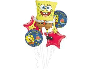 Spongebob Squarepants Balloon Bouquet - 5 Pack