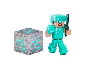 Minecraft Overworld 2.75 inch Action Figure - Steve with Diamond Armor