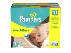 Pampers Swaddlers Size 1 Diapers Super Economy Pack - 216 Count