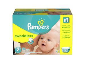 Pampers Swaddlers Size 2 Diapers Economy Plus Pack - 186 Count - $0.25/Ea.