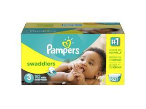 Pampers Swaddlers Size 3 Diapers Super Economy Pack - 162 Count - $0.28/Ea.