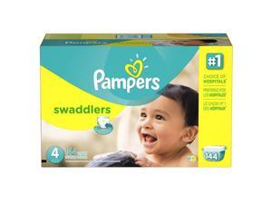 Pampers Swaddlers Size 4 Diapers Economy Plus Pack - 144 Count - $0.32/Ea.