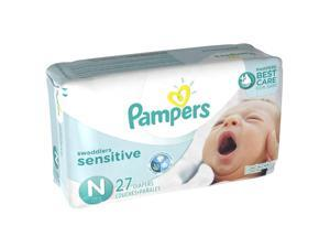 Pampers Swaddlers Sensitive Newborn Diapers Jumbo Pack - 27 Count