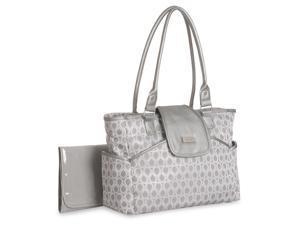 Carter's Jaquard Metallic Diaper Bag Tote - Silver