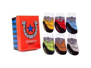 Trumpette Boys 6 Pack Duke's Cowboy Boot Socks- 0-12 Months
