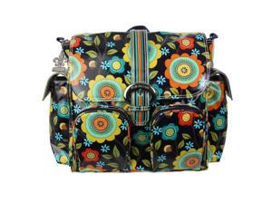 Kalencom Floral Stitches Matte Coated Diaper Bag
