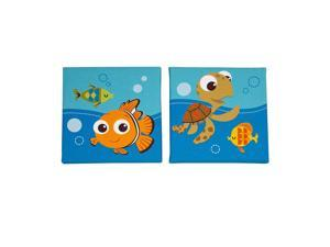 Disney Baby Finding Nemo 2 Piece Canvas Wall Art