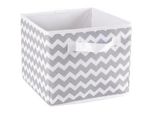 Koala Baby Canvas Folding Bin - Gray Chevron Print