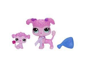 Littlest Pet Shop Pet and Friend - Poodle and Baby Poodle