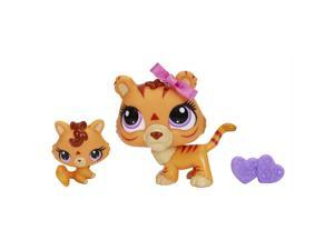 Littlest Pet Shop Pet and Friend - Tiger and Baby Tiger
