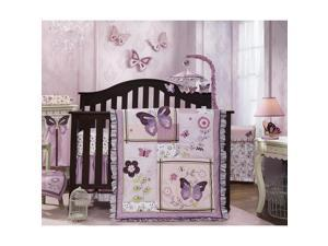 Lambs & Ivy Butterfly Bloom 6 Piece Bedding Set