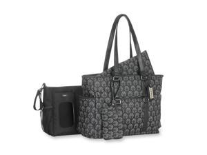 Carter's Studio Diaper Bag with Removable Stroller Tote - Black/Grey