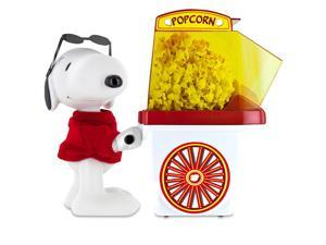 Smart Planet PNP1 Peanuts Snoopy Popcorn Cart Air Popper, Red