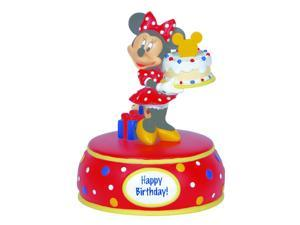 Precious Moments Disney Minnie Mouse with Cake Musical Figurine