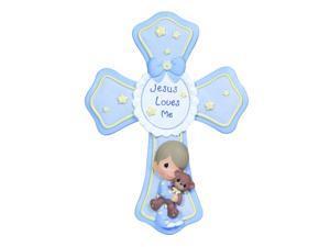 Precious Moments Jesus Loves Me Cross - boy