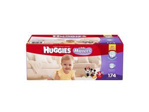 Huggies Little Movers Diapers Size 3, 174 Count