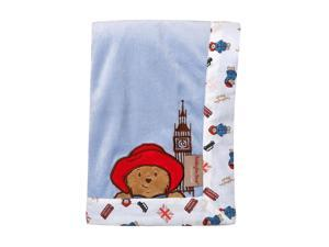 Trend Lab Paddington Bear Framed Blue Velour Receiving Blanket