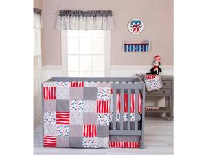 Trend Lab Dr. Seuss Cat and Things 3 Piece Crib Bedding Set