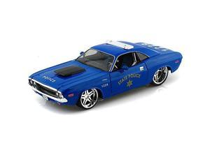 Maisto 1:24 1970 Dodge Challenger R/T Coupe - Blue State Police Car