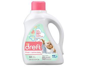 Dreft Laundry Detergent Stage 2 Active Baby - 100oz