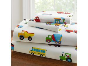 Olive Kids Trains, Planes, Trucks Full Sheet Set