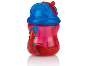 Nuby BPA Free No-Spill Easy Grip Flip n Sip 8 Ounce Cup - Blue/Red