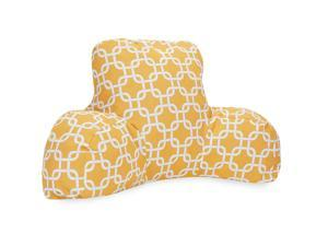 Majestic Home Goods Links Reading Pillow - Yellow
