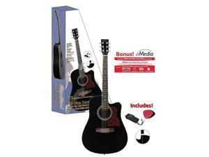 Spectrum AIL 128 Full Size Black Cutaway Acoustic Guitar