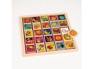 Battat B. Magnetic Alphabetic Puzzle Plank Toy