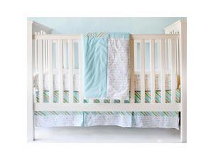 My Baby Sam Follow Your Arrow in Aqua 3pc Crib Bedding Set