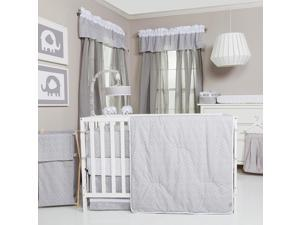Trend Lab Circles 3-Piece Crib Bedding Set - Gray and White
