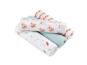 aden by aden anais Swaddleplus 4 Pack - Brave Little One
